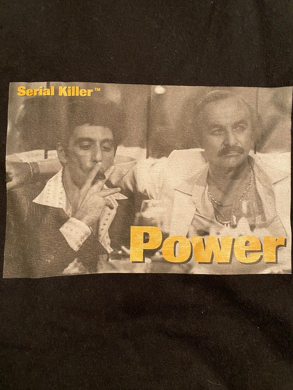 Vintage Serial Killer brand Scarface Power t shirt