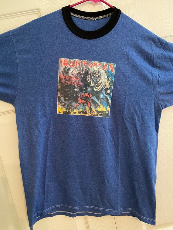 Vintage Iron Maiden Number of the Beast ringer tee