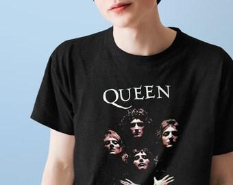 Long Sleeve Hoodie Tank Top Sweater Premium T-shirt Queen Rock Band Bohemian-Rhapsody-Freddie-Mercury Retro Vintage Unisex T-shirt