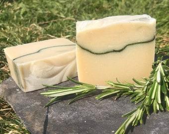 Rosemary and Coconut Milk Hand & Body Soap  - Vegan - 100g