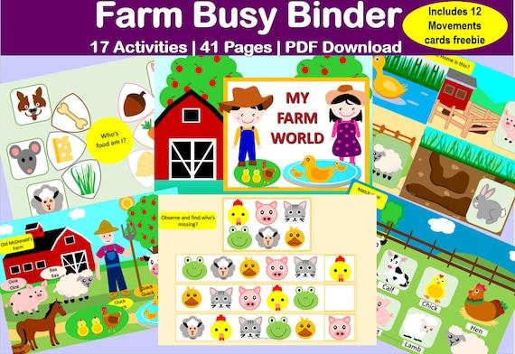Farm Animals Preschooler Activity Homeschooling Activity
