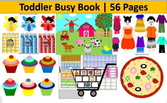 Toddler Learning Folder Educational Printable Quiet Book