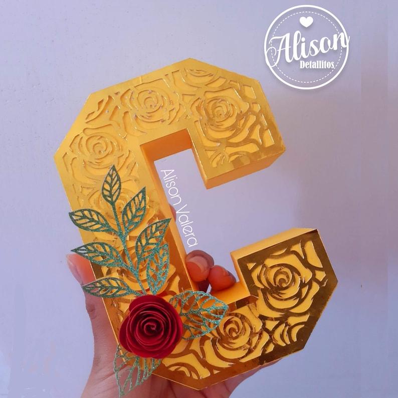 Rose Mask for 3D Letters