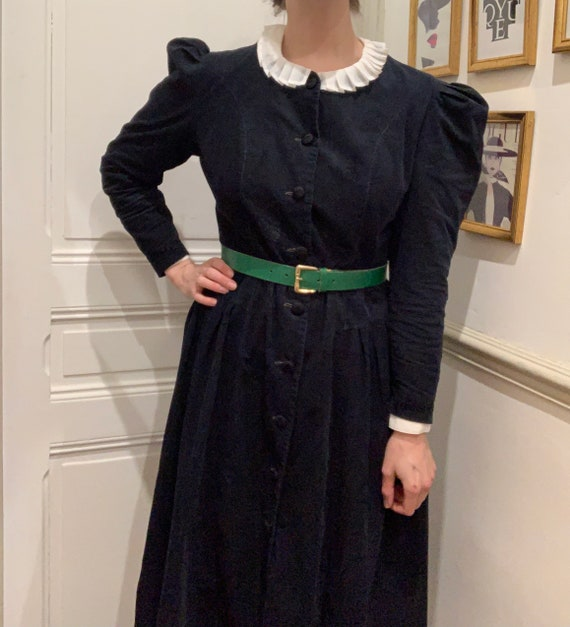 Laura Ashley needlecoard dress with buttons and pu