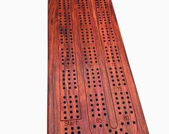 Redheart Cribbage Board - Peg Storage Included