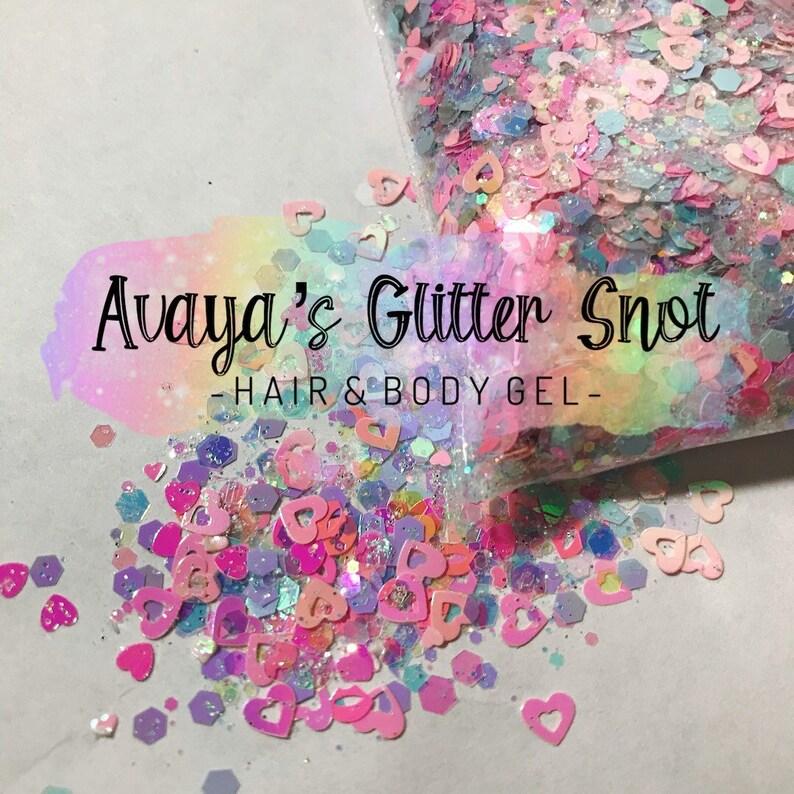 Sweet Pastel Glitter Gel