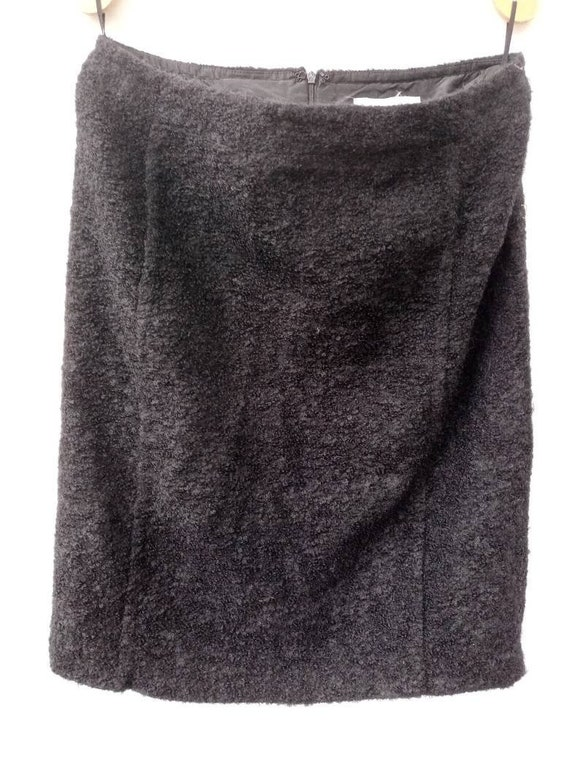 Vintage Max Mara pencil skirt mohair black skirt k