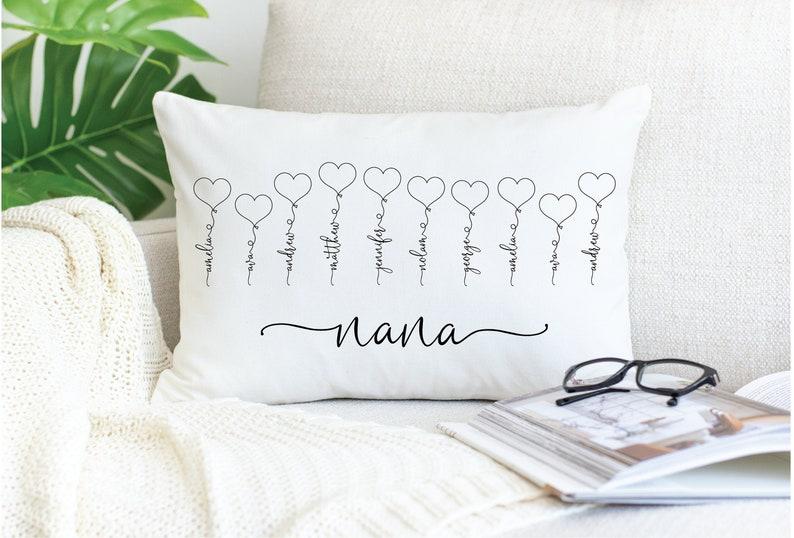 Custom Mother/'s Day Gift for Nana Birthday Day Gift Christmas Gift for Nana GrandKids Name Pillow Gift for Nana from Grandchildren