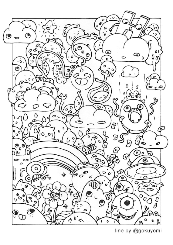 Doodles Coloring Page