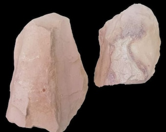 10 Unpolished Mineral Specimens Measures 1-2 inches on longest side Kaolin China Clay Rock