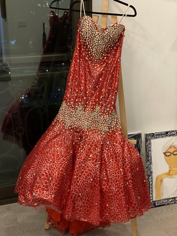 Bedazzling Red Panopoly Gown