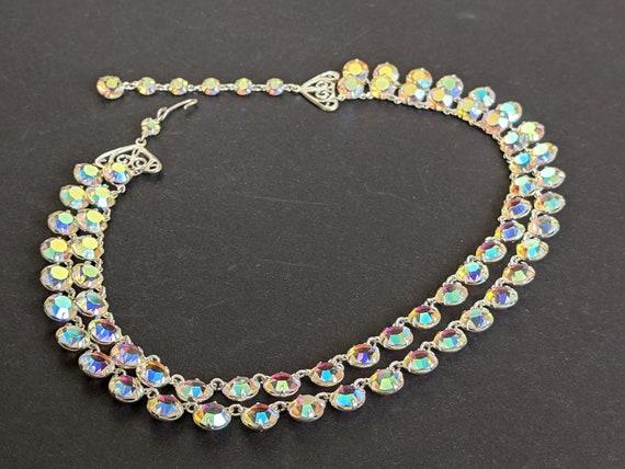 Art Deco Period Riviere Necklace Bezel Set With Crystal Drop Vintage Jewellery Wedding Necklace Bridal Bridesmaid