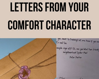 Letters from Your Fictional Comfort Character (Multi-Fandom)