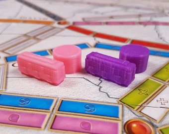 3D Orcs Replacement Pieces for Games like Ticket to Ride