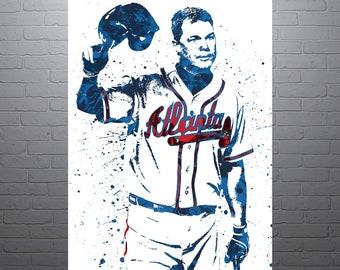 Huge 42x33 DALE MURPHY Poster vinyl Banner poster chipper Jones  art baseball greg maddux Francisco lindor Freddie freeman joe torre