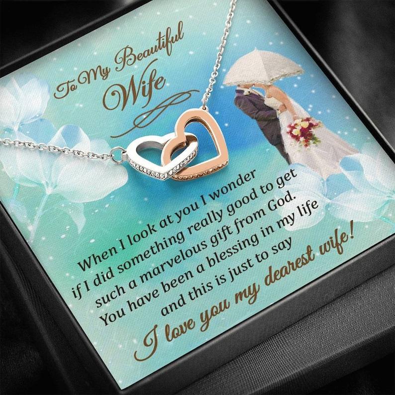 Ich liebe dich meine liebste Frau verriegelt Herz