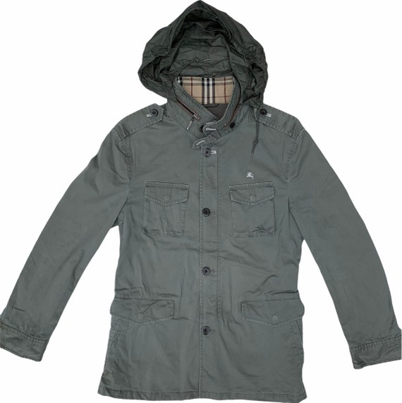 Burberry Parka Jacket Military Style