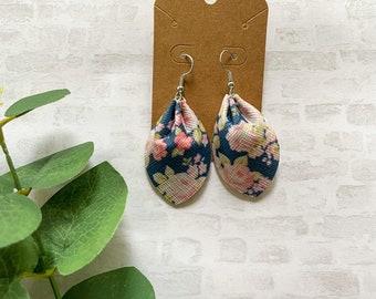 Floral Earrings • Leaf Earrings • Pinched Earrings • Hypoallergenic Earrings • Vegan Earrings