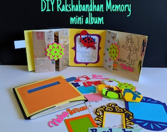 Kids DIY Rakshabandhan Rakhi and 3D Photo Memory book / Scrapbook / Mini album / Greeting (no need of glue or scissors)