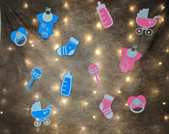 Baby shower decoration set, Photo Booth props 14 pc set