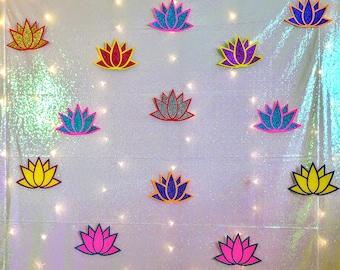 Lotus Backdrop decoration (10pc) for Pooja /Ganpati decoration/ Seemantham/ Housewarming/ Wedding/ Mehendi / Indian event