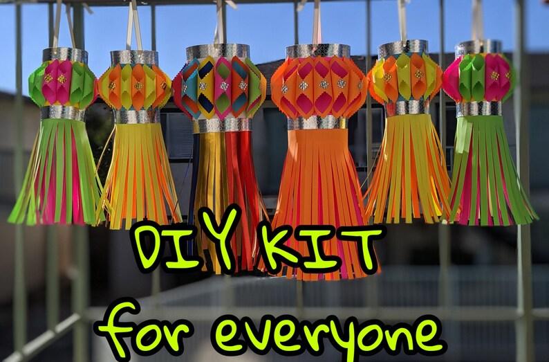 Lantern DIY kits for kids no need of glue or scissors image 1