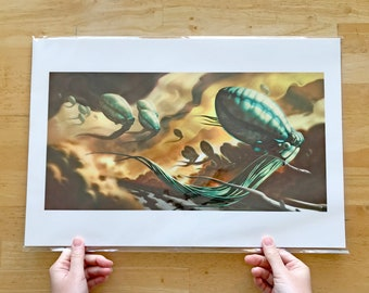 """Art Print: """"Jovian Fantasy"""" Alien Landscape of Jupiter"""