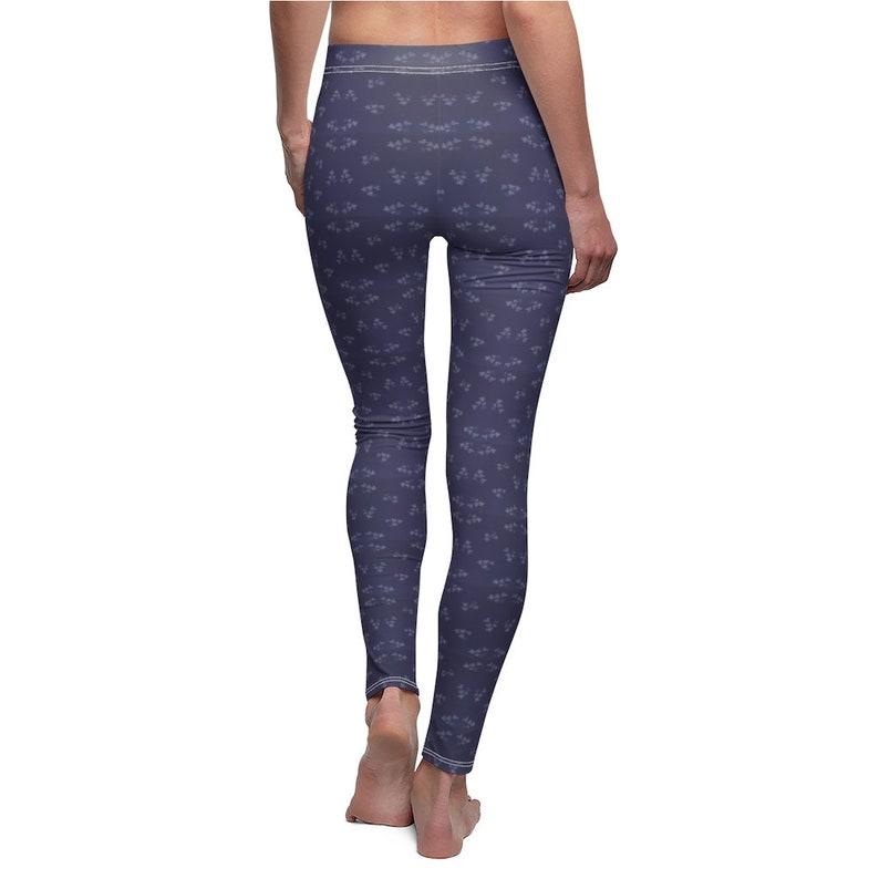 Navy Blue Patterned Leggings