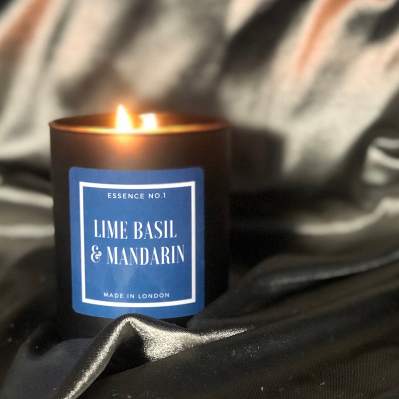 Lime Basil /& Mandarin Soy Wax Candles