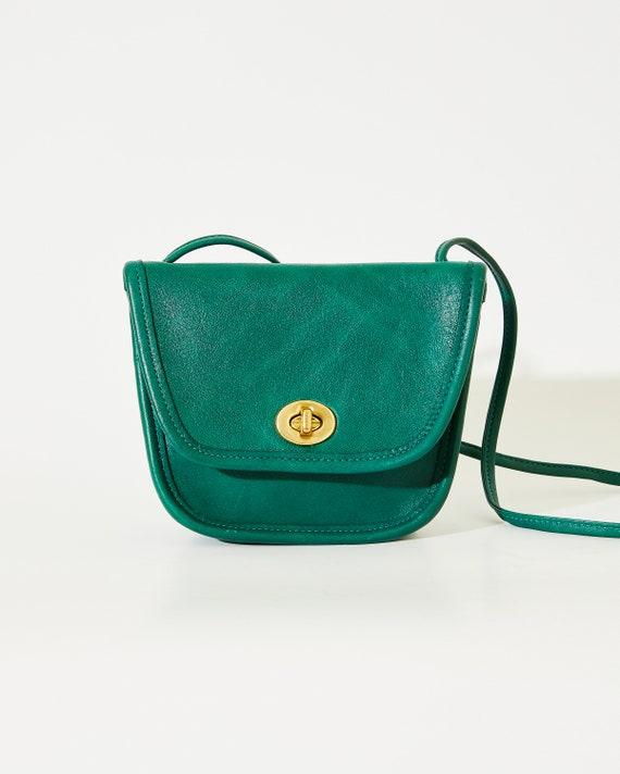 Bottle Green Vintage Coach Everett Bag #9934, Made