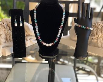 Agate Jade Jewelry Set