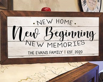 BPWU-0702 WELCOME HOME OF HURST Family Name Shield Chic Sign Home Decor Gift