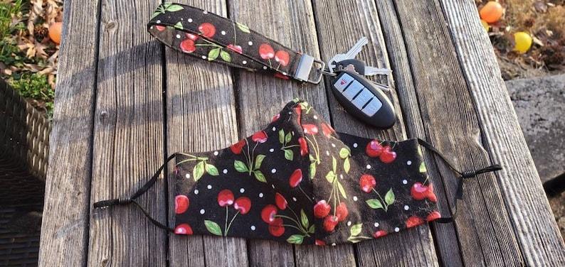 Cherry Wristlet Keychain  Fob  Key Holder