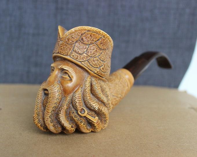 STAR MEERSCHAUM Pipe -Davy Jones block meerschaum pipe