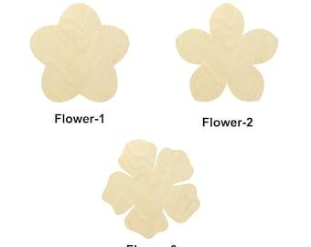 Flower Shape - Multiple Sizes - Laser Cut Unfinished Wood Cutout Shapes | Home decor | Decoration Gift