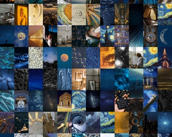 Mailed Starry Night Aesthetic Wall Collage   50 - 100 Photos   Photo Collage   Wall Art   Room Decor   Trendy Indie Photos