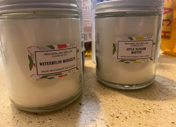 Candles from Wisteria and Willow Candle Co