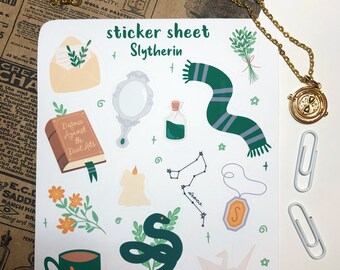 Magical House Sticker Sheets | Planner & Bullet Journal | Scrapbook Stickers | Aesthetic Stickers