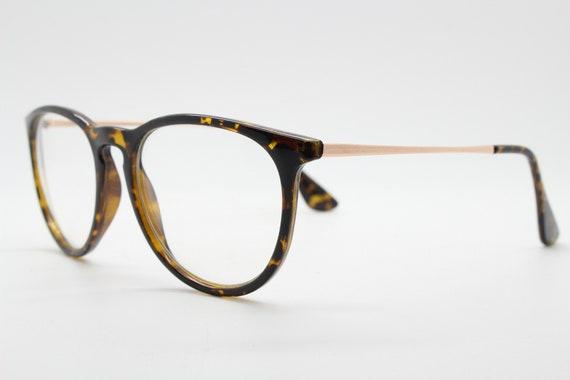 RX spectacles 90s vintage refined wayfarer style glasses Tortoise optical frames Prescription eyeglasses with clear lenses