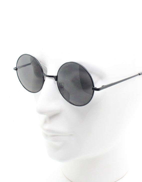 BNWT Bright chrome 60s style frame with deep red lenses John Lennon Micro NOS 90/'s vintage round sunglasses 1920s Steampunk