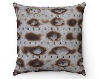 Jerusalem Matzah Spun Polyester Square Pillow