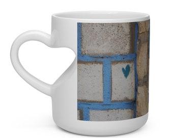 Love in Tzfat Heart Shape Mug
