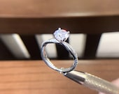 S925 Silver,Rings For Women,Cubic Zirconia Stone, Inlay Twist,Romantic,Wedding Ring, Gift For women, Silver Promise Ring