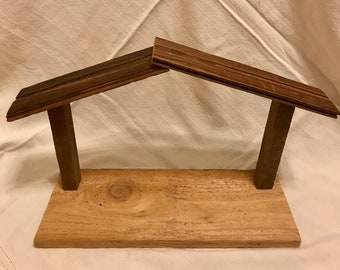 Wooden Crèche, Nativity Scene, Repurposed Wood, Ready to Sell!