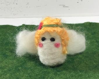 Needle Felted Angel,Nativity Angel, Miniature Angel, Ready to Ship!