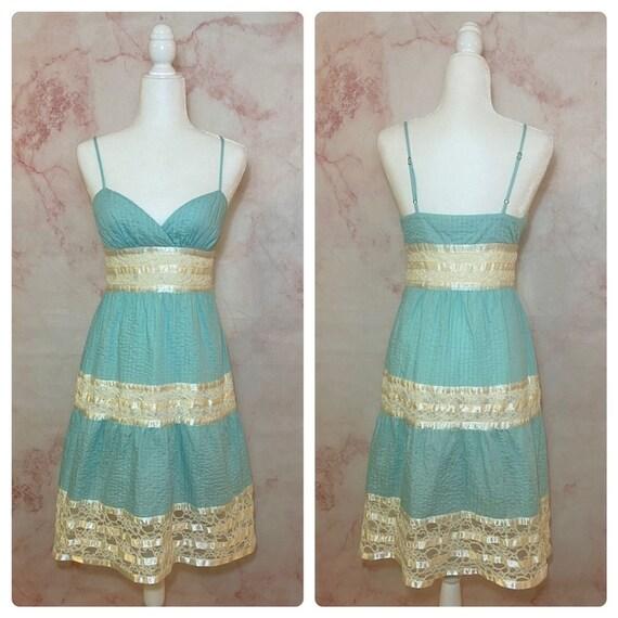 Vintage Betsey Johnson Satin & Lace Dress - 4