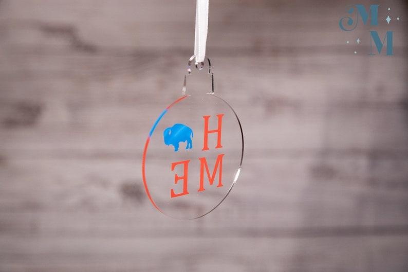 Winter New York Christmas Buffalo Home Ornament Buffalo Bills