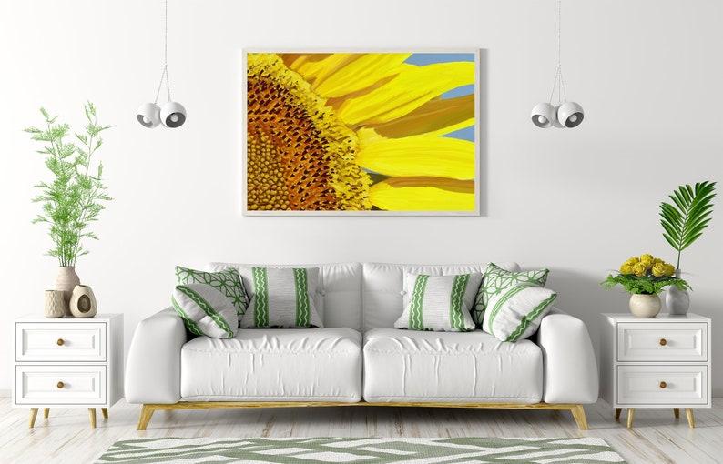 Sunflower Printable Wall Art flower decor Flower wall art image 0