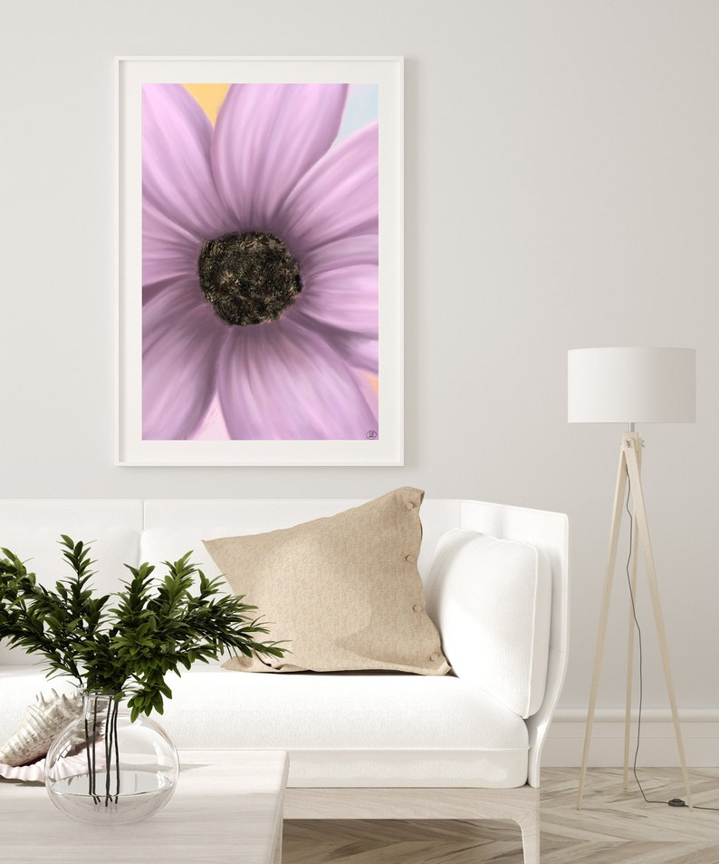 Pink flower Printable Wall Art Print Flower Wall Art Spring image 0