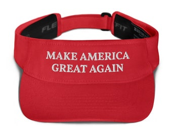 Printed in USA, MAGA Trump Supporter Visor Donald Trump MAGA Make America Great Again Flex Visor Trump 2020 Visor Hat for Men and Women